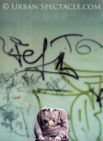 Street Art of Brussels (Blown-off Head) 8.15.08