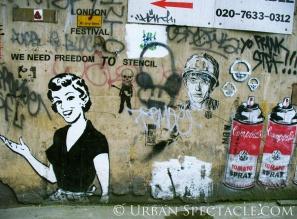 Street Art of London (Freedom to Stencil) 8.18.08