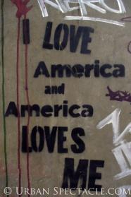 Street Art of London (I Love America) 8.18.08