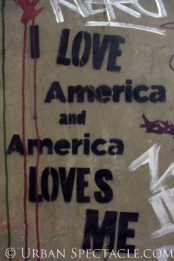 Street Art of London (I Love America) 8.18.08