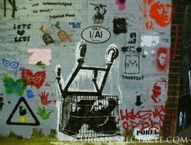 Street Art of London (Shopping Cart) 8.18.08