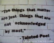 Street Art of London (Tainted Poet) 8.18.08