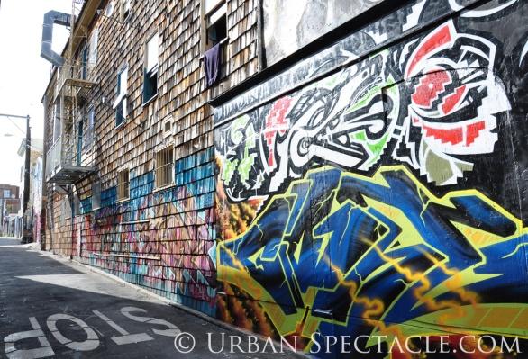 Street Art of San Francisco (Clarion Alley entrance @ Valencia) 3.25.10