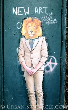 Street Art of San Francisco (Lionface) 6.19.13