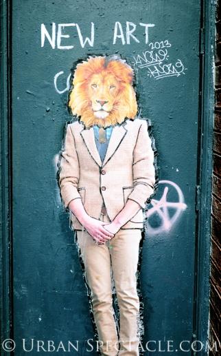 Street Art of San Francisco (Lionface) 6.19.13