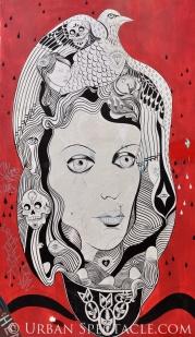 Street Art of San Francisco (Medusa and Red) 3.25.10