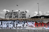 Street Art of San Francisco (Ocean Beach Black & Red) 3.25.10