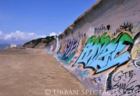 Street Art of San Francisco (Ocean Beach Cyan Tag) 3.25.10