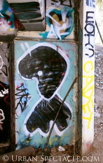 Street Art of San Jose (Homeless Village entrance) 2.10.11