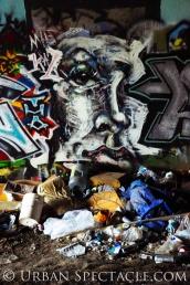Street Art of San Jose (Homeless Village (Face)) 11.11.10
