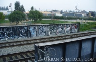 Street Art of San Jose (Train Tracks) 2.18.10